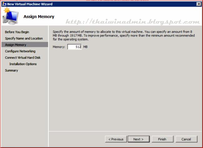 Virtual machine windows server 2008 hyper v for Window location assign